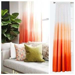 """2 Threshold Ombre Coral Curtain Drape Panels 84"""""""